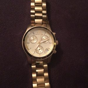 Michael Kors Runway Mid Size Gold Watch